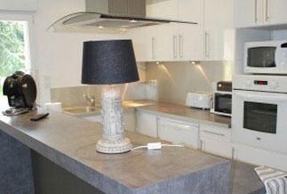 la cuisine de la villa belle vue équipée de matériel de dernières générations